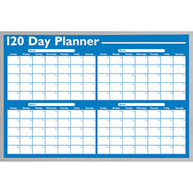 120-Day Non-Magnetic Dry Erase Planner by