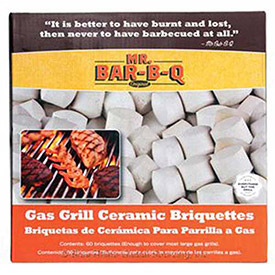 Mr. Bar-B-Q 06000X Gas Grill Ceramic Briquettes, 60 Pieces, 6 Count by