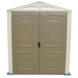 StoreMate Vinyl Outdoor Shed 30411, 6'W X 6'D, Includes Vinyl Floor