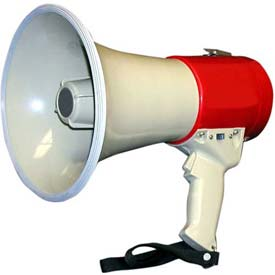 15 Watt Piezo Dynamic Megaphone With Pistol Grip, Built-In Siren & Whistle