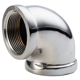 Chrome Plated Brass Pipe Fitting 3/4 90 Degree Elbow Npt Female - Pkg Qty 25