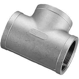 1-1/2 In. 304 Stainless Steel Tee - FNPT - Class 150 - 300 PSI - Import