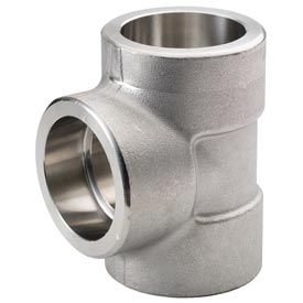 "Ss 316/316l Forged Pipe Fitting 1/4"" Tee Socket Weld - Pkg Qty 10"