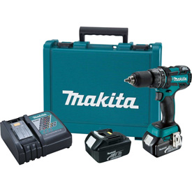"Makita XPH12T 18V LXT Lithium-Ion Brushless Cordless 1/2"" Hammer Drill Kit by"