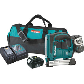 "Makita XTS01T 18V LXT Lithium-Ion Cordless 3/8"" Crown Stapler Kit by"