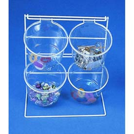 Marv-O-Lus 4 Jar Counter Rack, 2/Cs, 2 Step Design, White, 70