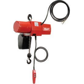 Milwaukee® 1 Ton Electric Chain Hoist 10' Lift 115/230V 1-Phase