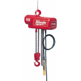 Milwaukee® 1 Ton Electric Chain Hoist - 20' Lift 115/230V, 1-Phase