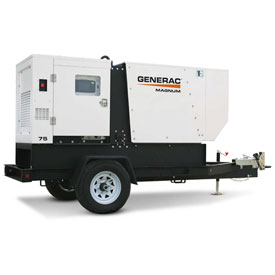 Generac MMG75D-STD, 60kW, Tier 4, Towable Diesel Generator, John Deere Engine by