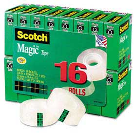 "Scotch® Magic Invisible Tape Value Pack, 3/4"" x 1000"", 16 Rolls/PK"
