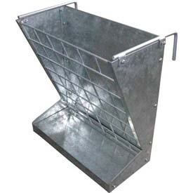 Little Giant 2-In-1 Hookover Goat And Sheep Feeder 168793, Galvanized Steel