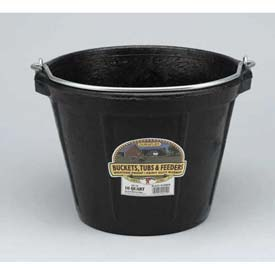 Little Giant All-Purpose Pail Df10, Duraflex Rubber, 10 Qt., Black Package Count 12 by