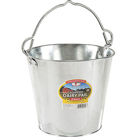 Little Giant Dairy Pail GP8, Galvanized Steel, 8 Qt. by