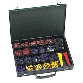 Morris Products 10818 500 Piece Terminal Kit with Controlled Cycle Crimp Tool