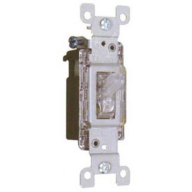 Morris Products 82046, Back Lit Toggle Switch 3 Way 15A-120/277V