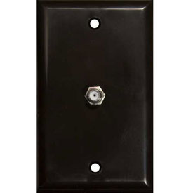 Morris Products 85012, Single F Connector Wallplate Brown