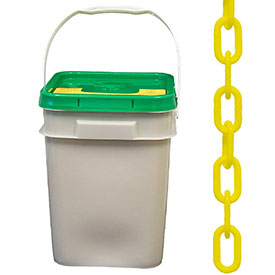 "Plastic Chain 2"" Links In A Pail Yellow 160 Feet by"