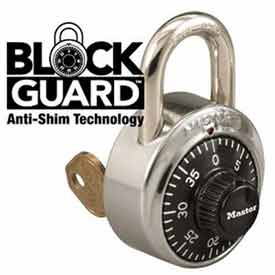 Master Lock® General Security Combo Padlock, Key Control, Black Dial