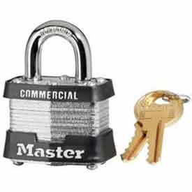 Master Lock® Laminated Steel Padlock Keyed Alike - 24 Pack - Pkg Qty 24