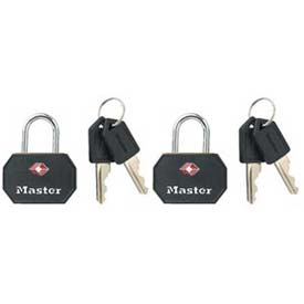 Master Lock® Luggage Locks - No. 4681tblk - Pkg Qty 16