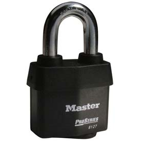 Master Lock® High Security Steel Weather Resistant Covered Laminated Padlocks - No. 6127 - Pkg Qty 24