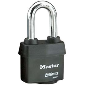 Master Lock® High Security Steel Weather Resistant Covered Laminated Padlocks-No. 6127lh - Pkg Qty 24