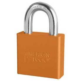American Lock® Solid Aluminum Rectangular Padlock, Orange - No A1305orj - Pkg Qty 24