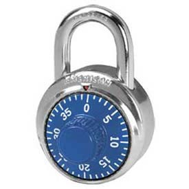 American Lock® Padlock Stainless Steel Combination Padlock, No Key Access, Blue - No A400 - Pkg Qty 25