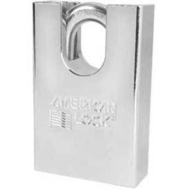 American Lock® Solid Steel Shrouded Padlock - No A748 - Pkg Qty 24