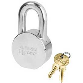 American Lock® Solid Steel Blade Cylinder Padlock With Chrome Shackle - No Ah10csh - Pkg Qty 24