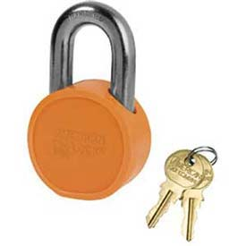 American Lock® Solid Steel Blade Cylinder Padlock With Orange Powder Coating -No Ah10opb - Pkg Qty 24
