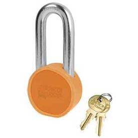 American Lock® Solid Steel Blade Cylinder Padlock With Orange Powder Coating -No Ah11opb - Pkg Qty 24