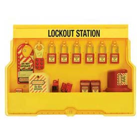 Master Lock® Lockout Station, Electrical Focus, Zenex™ Thermoplastic Padlocks, S1850E410