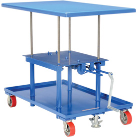 Vestil Hand Crank Operated Mechanical Post Table MT-2442-HP - 24 x 42 High Profile
