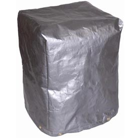 "24""L X 24""W X 36""H, 5-Sided Vinyl Coated Machine Cover, 18 oz. Gray - MCB-V02-06"