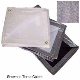 20' X 20' Heavy Duty 7 oz. Tarp Black/Silver - TTS-12000-2020