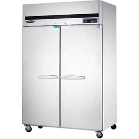 Kool-It KTSR-2 Top Mount Refrigerator - Double Door 44.7 Cu. Ft. Silver