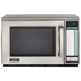 """Sharp R-24GTF Commercial Microwave Oven, Heavy Duty, 1800W, S/S, 20-1/8""""W x... by"""