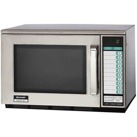 """Sharp R-25JTF Commercial Microwave Oven, Heavy Duty, 2100W, S/S, 20-1/8""""W x... by"""