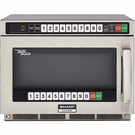 """Sharp R-CD1200M Commercial Microwave Oven, TwinTouch, 1200W, S/S, 17-1/2""""W x... by"""