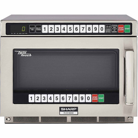 """Sharp R-CD1800M Commercial Microwave Oven, Twin Touch, 1800W, S/S, 17-1/2""""W x... by"""