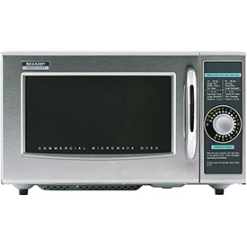 "Sharp R-21-LCF Commercial Microwave Oven, Medium Duty, 1000W, Gray, 20-1/2""W x 16""H x 12-1/8""D by"