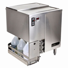 Jet-Tech XG-37 Rotary Bar Glass Washer, Low Temperature Chemical Sanitizing by