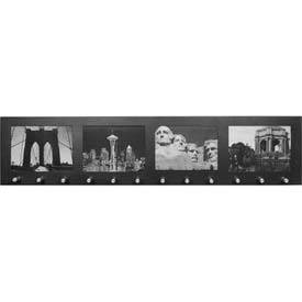 "Barska Four Section 4""x6"" Picture Wall Mount Frame w/12 Position Key Holder, 28""Wx1-1/2""Dx6-1/2""H"