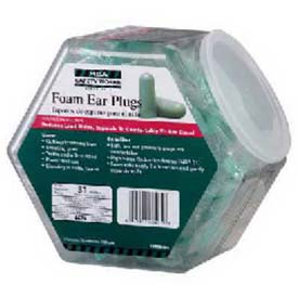 100-Pair Expandable Foam Ear Plugs In Fishbowl Counter Dispenser Package Count 3 by