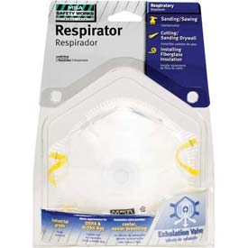 N-95 Harmful Dust Disposable Respirator W/ Exhalation Valve, 1 Pack - Pkg Qty 6