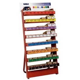 Large Free Standing Wheel Weight Rack with 1,950 Piece Wheel Weight Assortment by