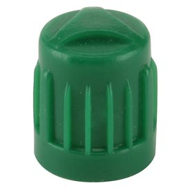 Green Plastic Valve Cap for Nitrogen Inflated Tires