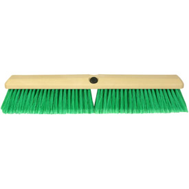"18"" Truck Wash Brush w/ Green Fibers - Professional"