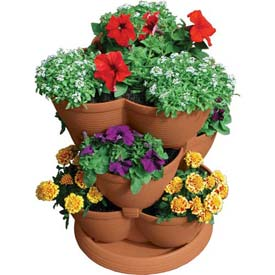 "Akro-Mils Medium Stack-A-Pot™ Planter RZ.JMED0E22, 19""H X 15"" Dia., Clay"
